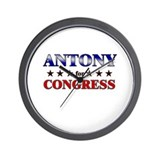 ANTONY for congress Wall Clock