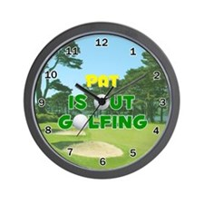 Pat is Out Golfing - Wall Clock