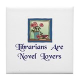 """Novel Lovers"" Tile Coaster"