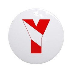 http://i1.cpcache.com/product/189257446/scuba_flag_letter_y_ornament_round.jpg?height=240&width=240