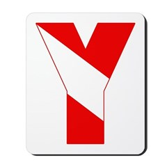 http://i1.cpcache.com/product/189257454/scuba_flag_letter_y_mousepad.jpg?height=240&width=240