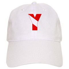 http://i1.cpcache.com/product/189257458/scuba_flag_letter_y_baseball_cap.jpg?color=White&height=240&width=240