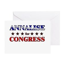 ANNALISE for congress Greeting Card