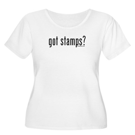 Got Stamps? Women's Plus Size Scoop Neck T-Shirt