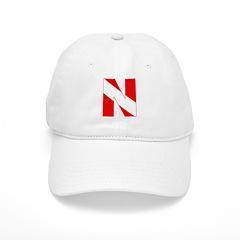 http://i1.cpcache.com/product/189272114/scuba_flag_letter_n_baseball_cap.jpg?color=White&height=240&width=240