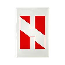 Scuba Flag Letter H Rectangle Magnet