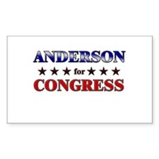 ANDERSON for congress Rectangle Decal