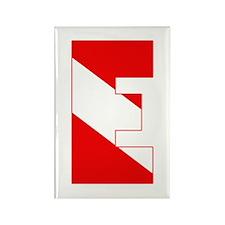 Scuba Flag Letter E Rectangle Magnet