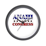 ANAHI for congress Wall Clock
