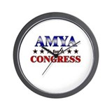 AMYA for congress Wall Clock