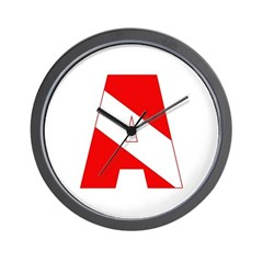 http://i1.cpcache.com/product/189285234/scuba_flag_letter_a_wall_clock.jpg?height=240&width=240