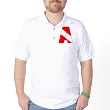 Scuba Flag Letter A T-Shirt