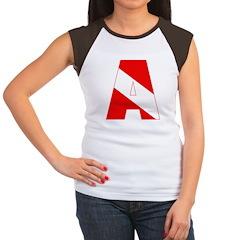 http://i1.cpcache.com/product/189285296/scuba_flag_letter_a_womens_cap_sleeve_tshirt.jpg?color=BlackWhite&height=240&width=240