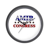 AMIR for congress Wall Clock
