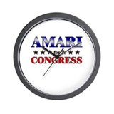 AMARI for congress Wall Clock