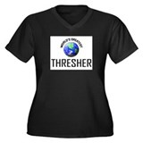 World's Greatest THRESHER Women's Plus Size V-Neck