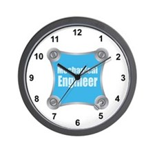 Blue Screw Loose Wall Clock