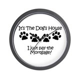 Dog's House Wall Clock