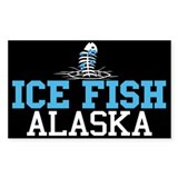 Ice Fish Alaska Rectangle Bumper Stickers