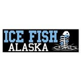 Ice Fish Alaska Bumper Bumper Stickers