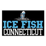 Ice Fish Connecticut Rectangle Bumper Stickers