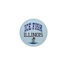 Ice Fish Illinois Mini Button (10 pack)