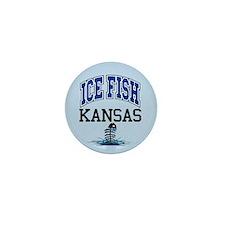 Ice Fish Kansas Mini Button
