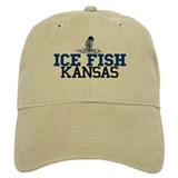 Ice Fish Kansas Baseball Cap