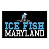 Ice Fish Maryland Rectangle Bumper Stickers