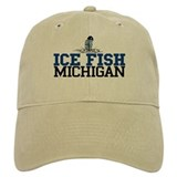 Ice Fish Michigan Baseball Cap