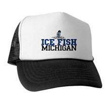 Ice Fish Michigan Trucker Hat