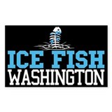Ice Fish Washington Rectangle Bumper Stickers