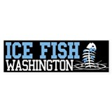 Ice Fish Washington Bumper Bumper Stickers