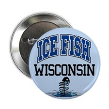 "Ice Fish Wisconsin 2.25"" Button (10 pack)"