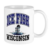Ice Fish Wisconsin Small Mugs