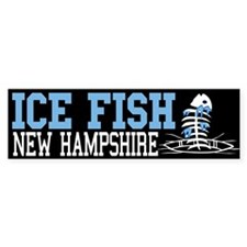 Ice Fish New Hampshire Bumper Bumper Sticker