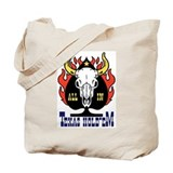 Texas Hold'em Longhorn skull poker Tote Bag