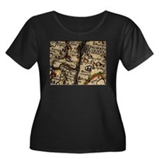 """Old England Map"" T"