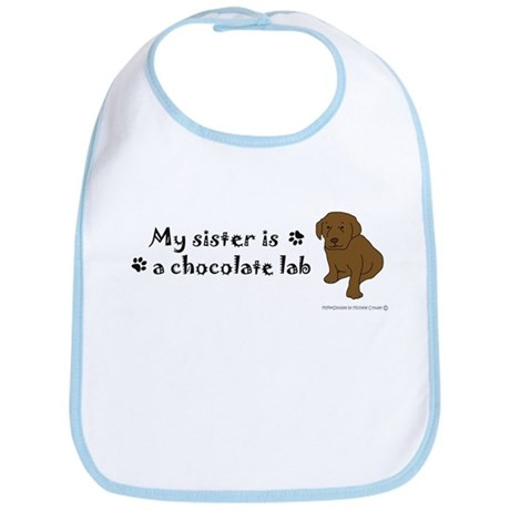 chocolate lab gifts Bib