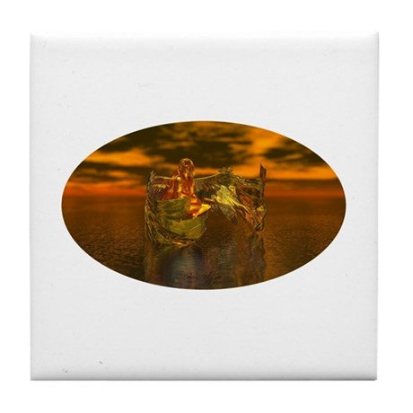 Golden Angel Tile Coaster