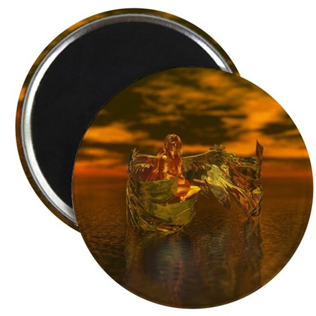 "Golden Angel 2.25"" Magnet (100 pack)"