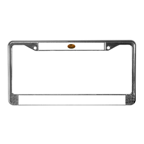Golden Angel License Plate Frame
