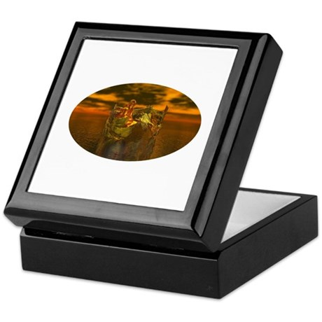Golden Angel Keepsake Box
