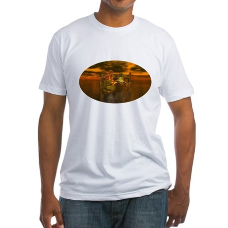 Golden Angel Fitted T-Shirt