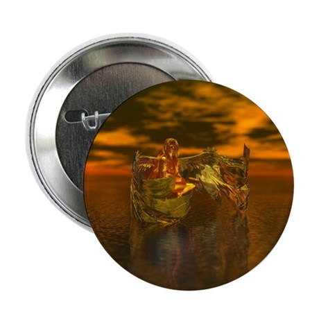 "Golden Angel 2.25"" Button"