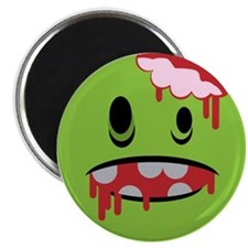"unhappy undead zombie smiley 2.25"" Magnet (10 pack"