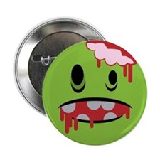 "unhappy undead zombie smiley 2.25"" Button"