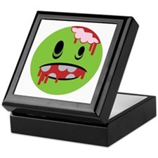 unhappy undead zombie smiley Keepsake Box