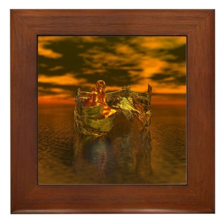 Golden Angel Framed Tile