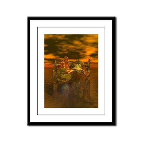 Golden Angel Framed Panel Print